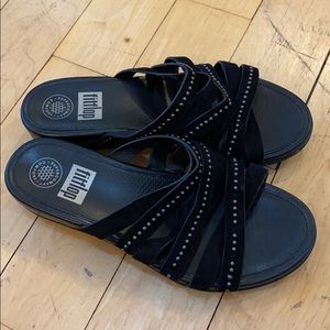 FitFlop Crossover Sandals Sz 8